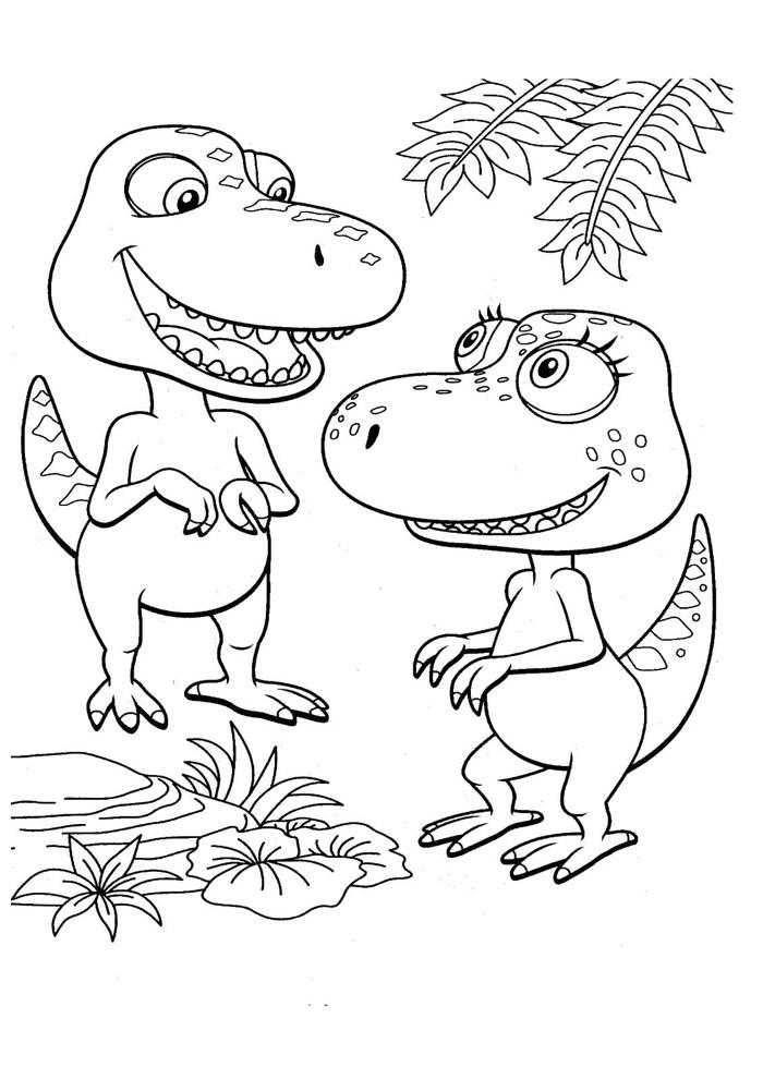 dinossauro para colorir 46