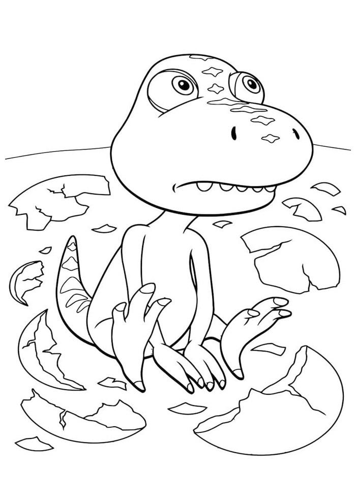 dinossauro para colorir 5