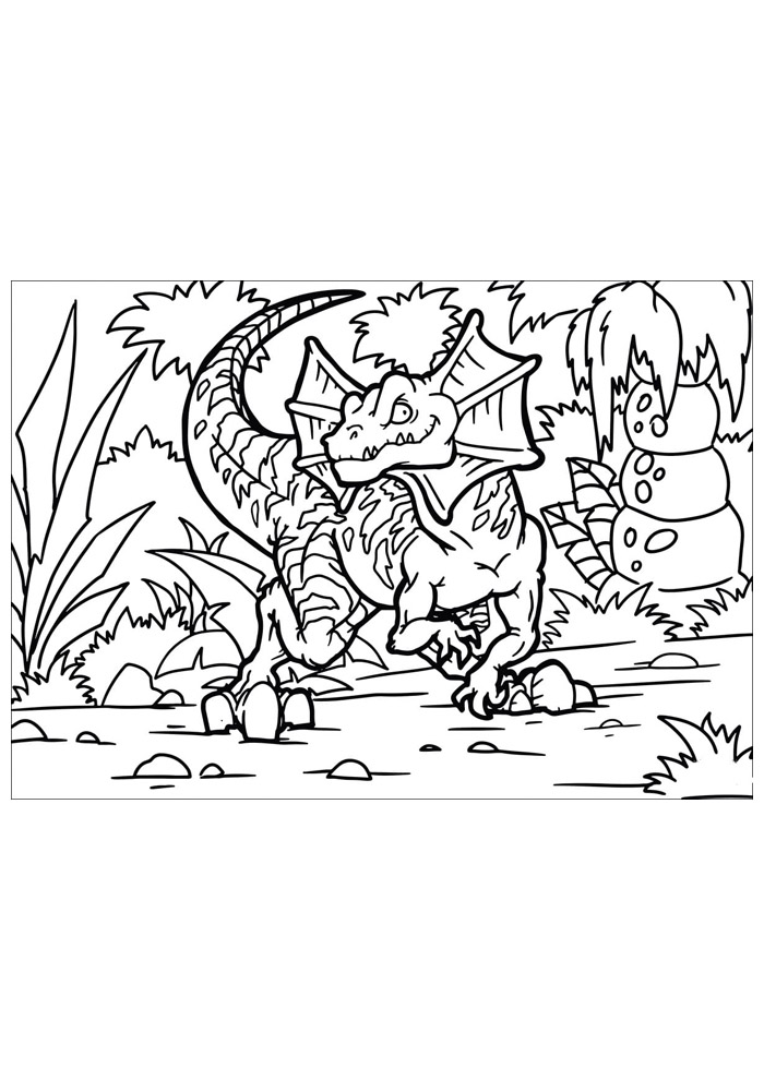 dinossauro para colorir 54