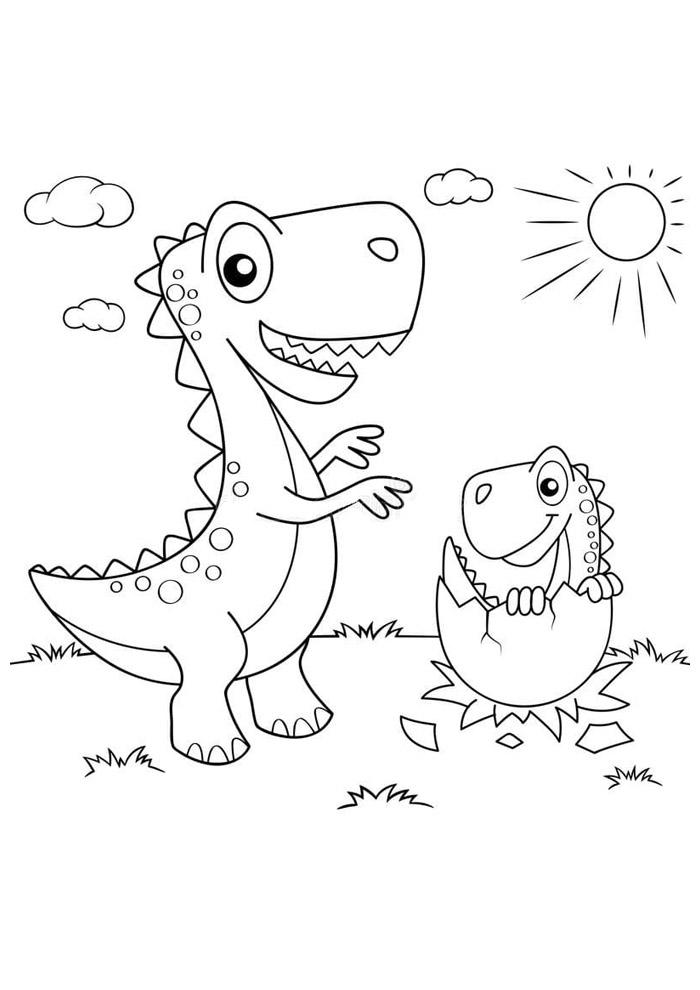 dinossauro para colorir 76