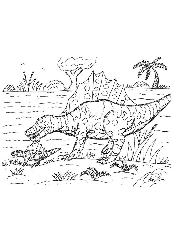 dinossauro para colorir 92