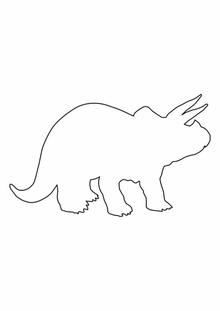 dinossauro para colorir contorno