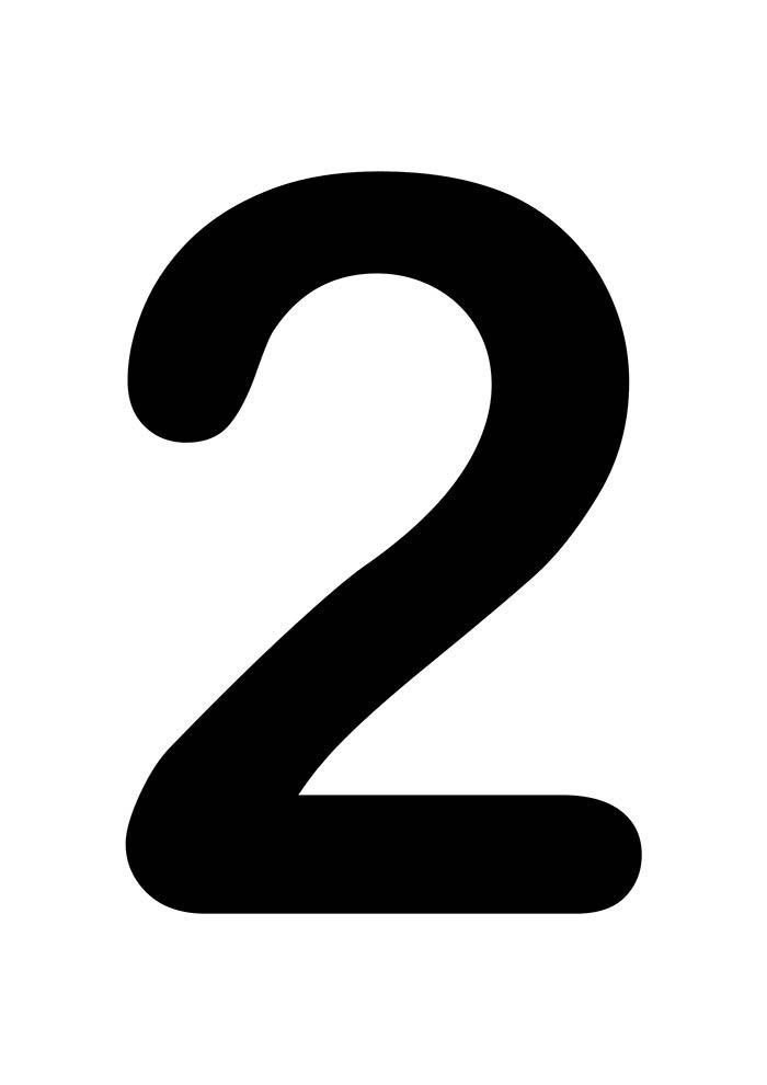 número dois para imprimir