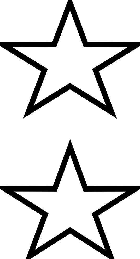 Duas estrelas para colorir