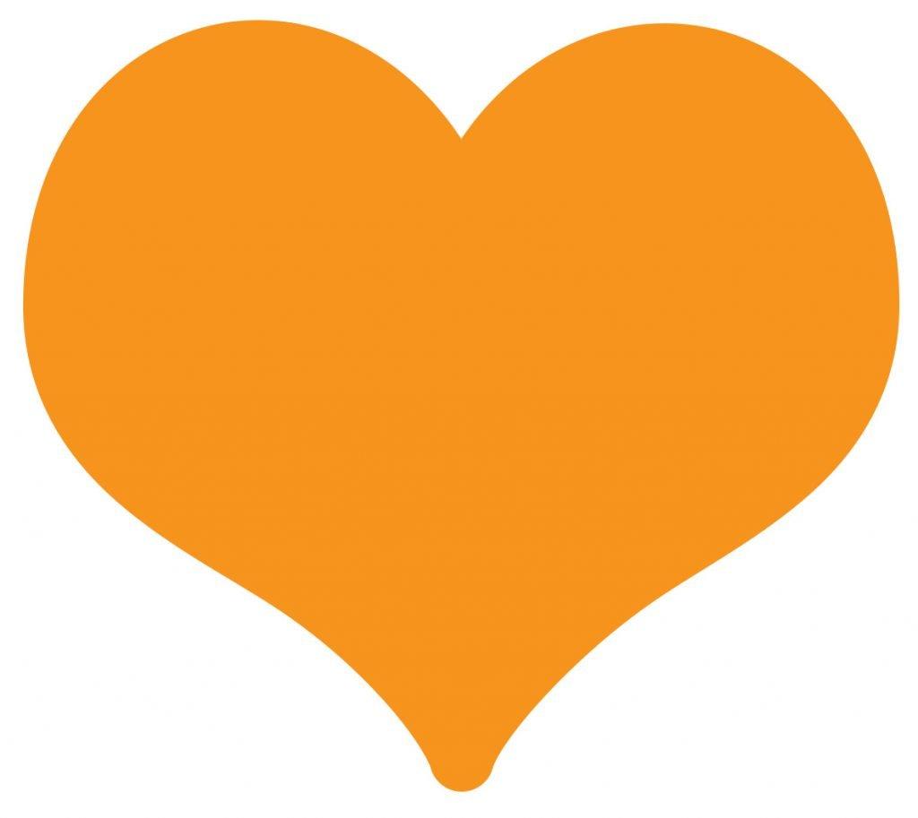 emoji coracao laranja significado
