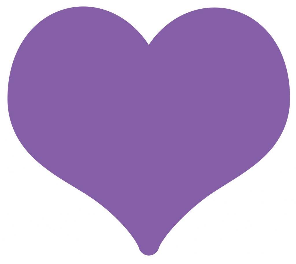 emoji coracao roxo significado