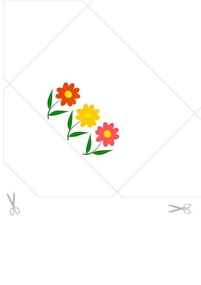 Envelope decorado para carta imprimir