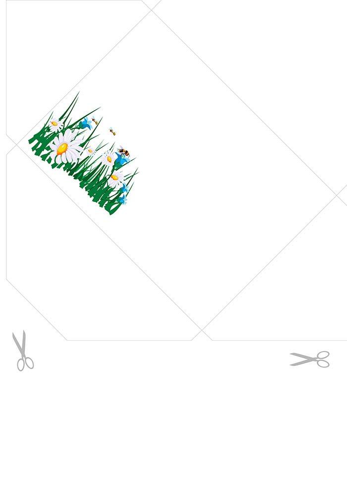Envelope decorado para imprimir e escrever