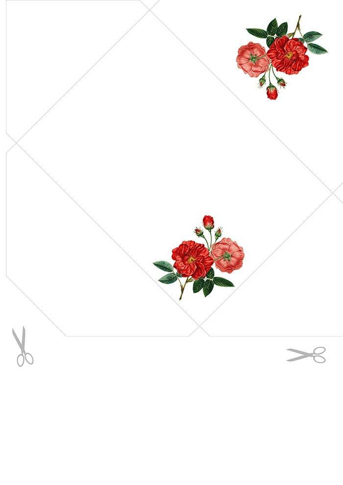 Envelope decorado para imprimir