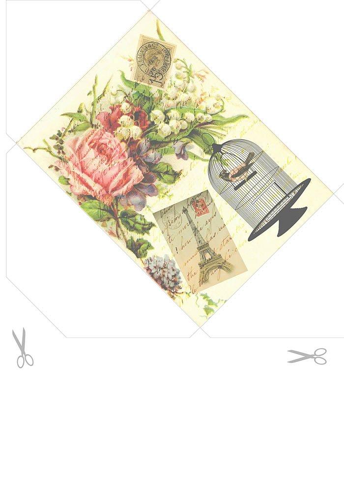 Envelope romântico para imprimir