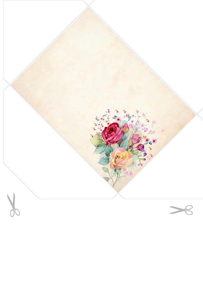 Envelope vintage para imprimir