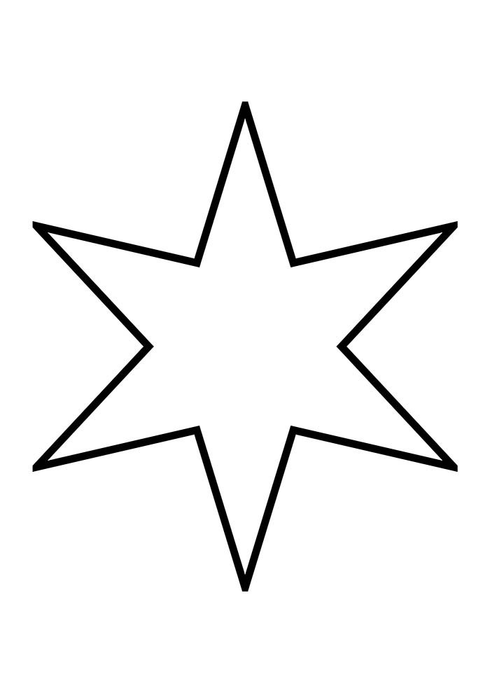 estrela 6 pontas natal para colorir