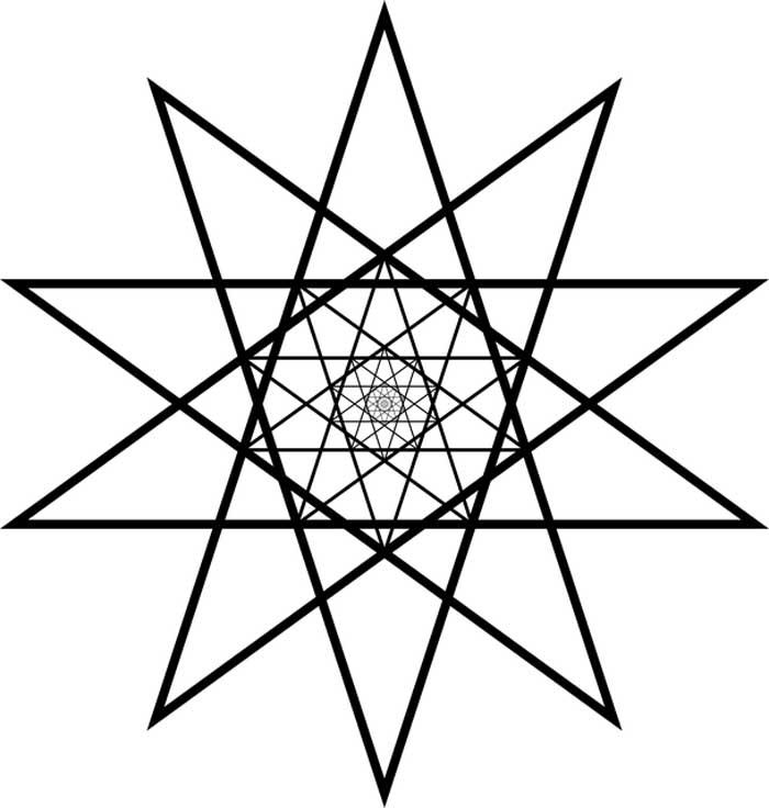 Estrela de 10 pontas para colorir