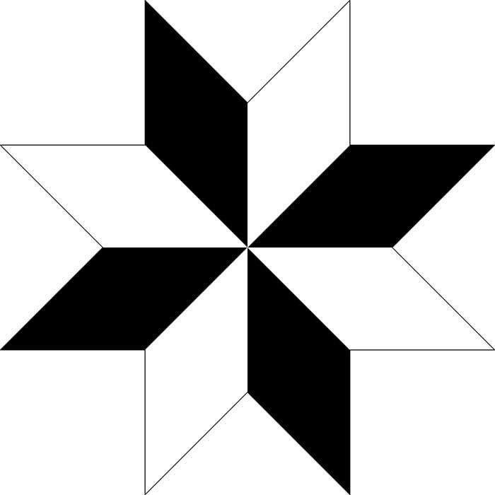 Estrela de 8 pontas para colorir