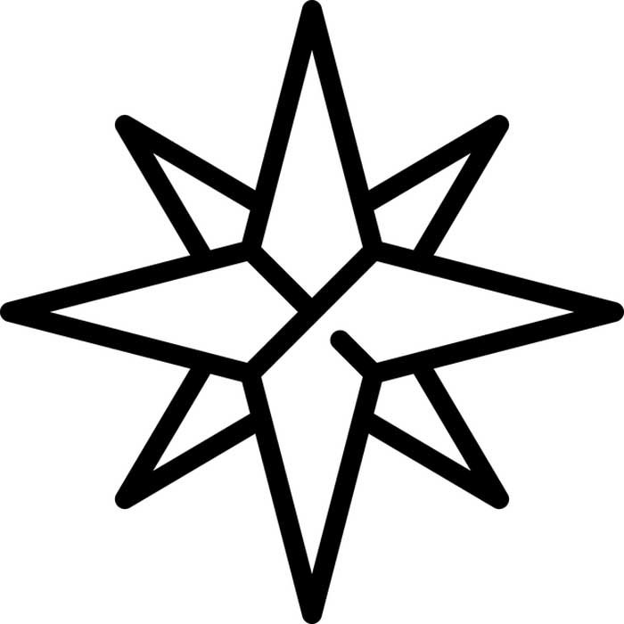 Estrela de Belém para colorir
