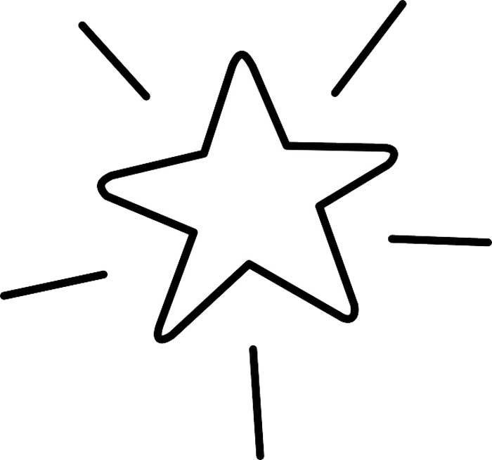 Estrela desenho para imprimir e colorir