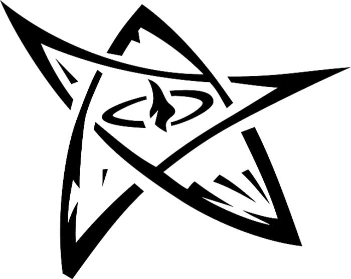 Estrela diferente para colorir