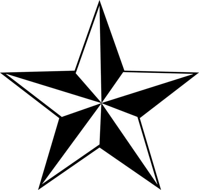 Estrela dimensional para colorir