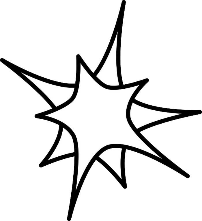 Estrela dupla para colorir
