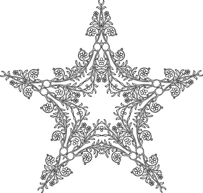 Estrela florida para colorir