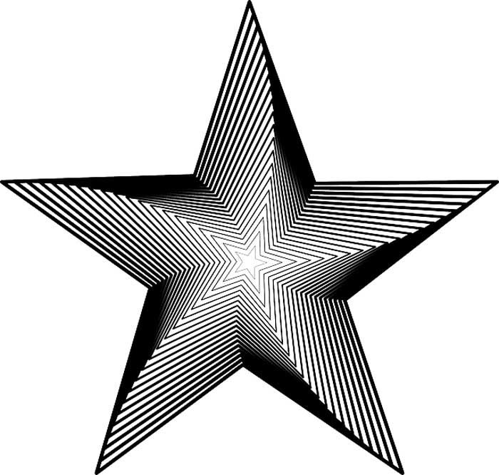 Estrela geométrica para colorir