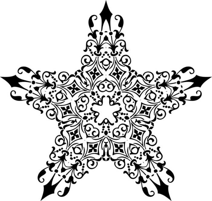 Estrela grande para colorir