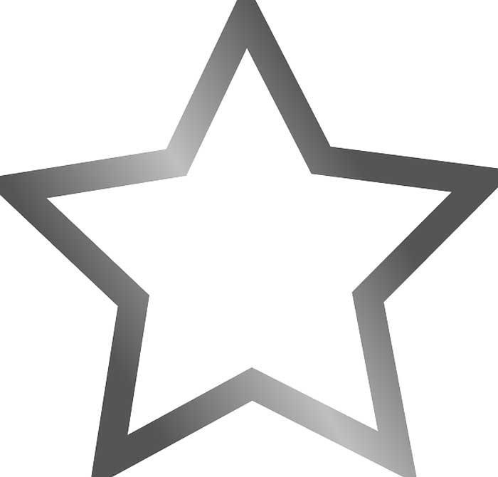 Estrela grossa para colorir