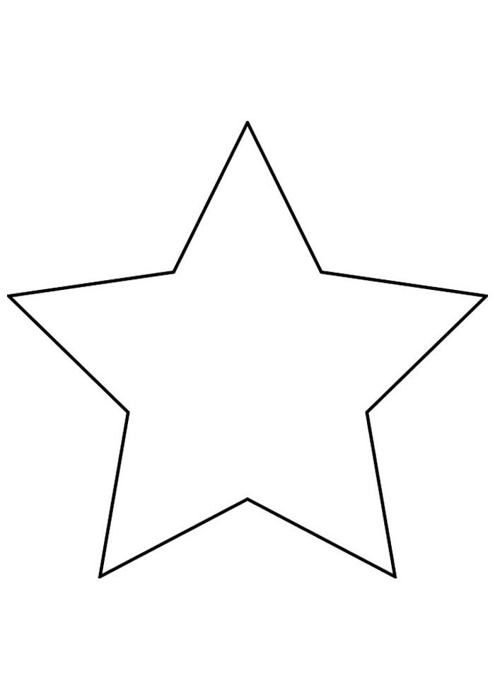 estrela para colorir 1