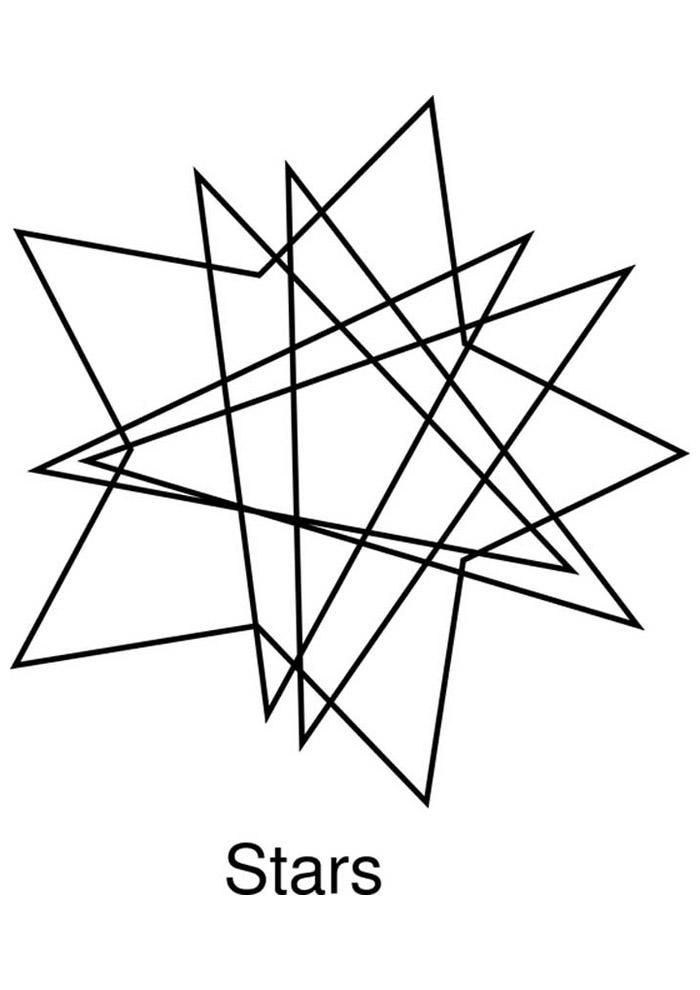 estrela para colorir 10