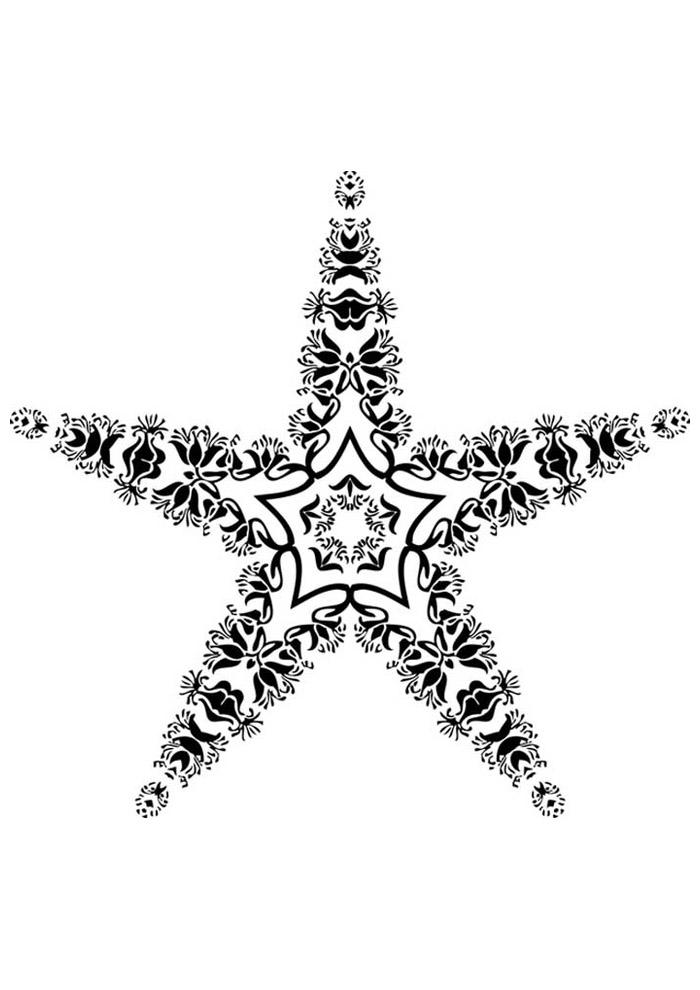 estrela para colorir 11