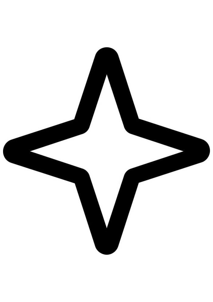 estrela para colorir 13
