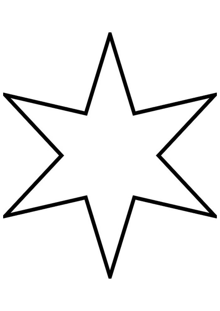 estrela para colorir 16