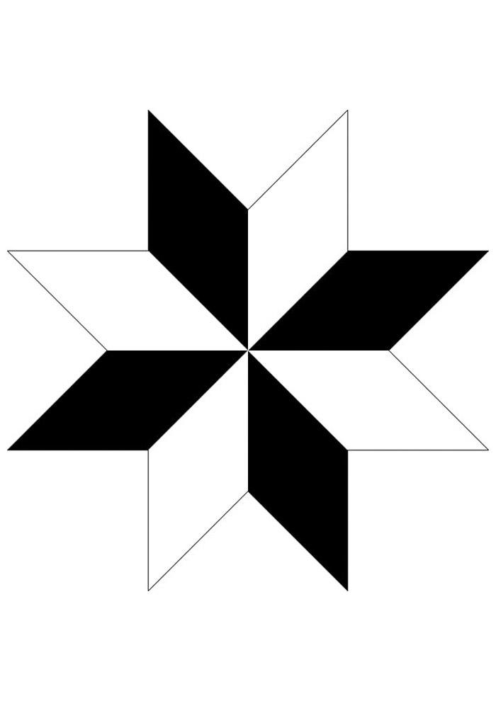 estrela para colorir 17