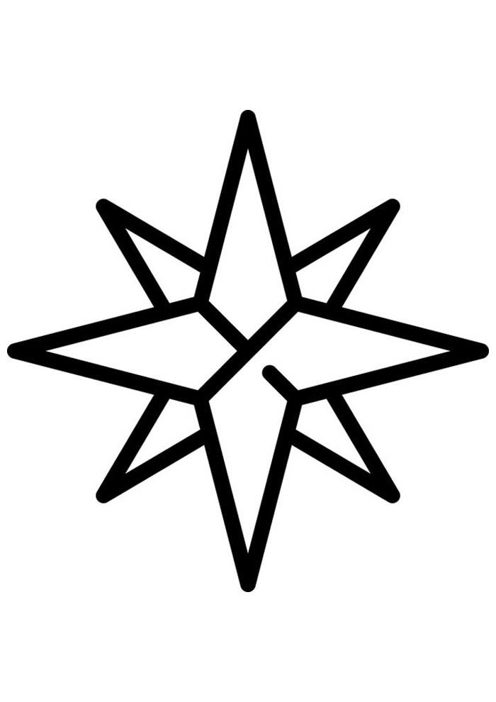 estrela para colorir 19