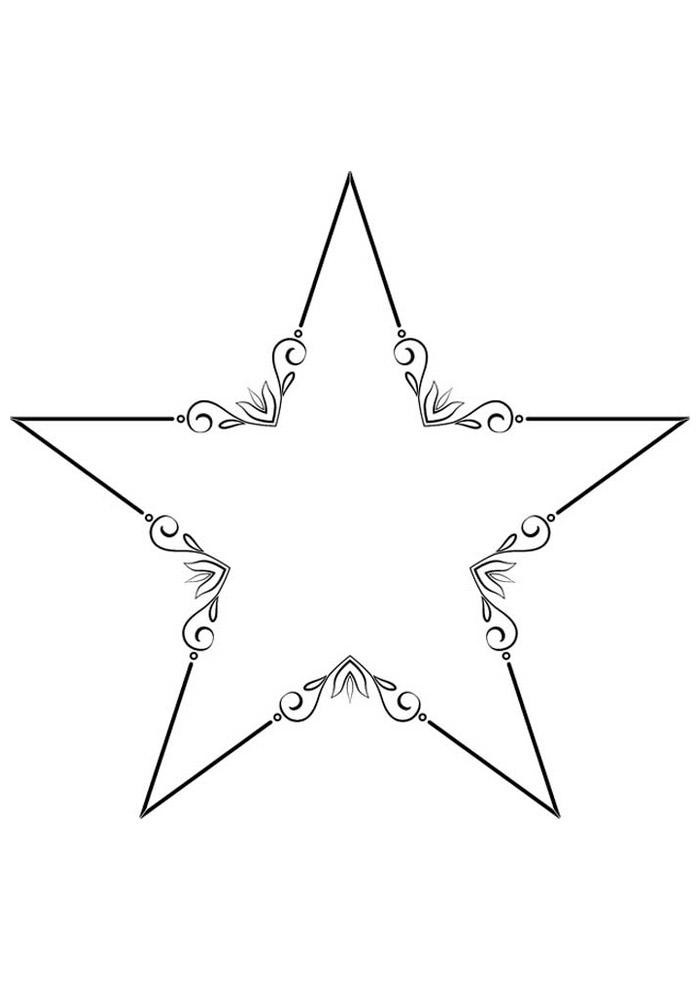 estrela para colorir 23