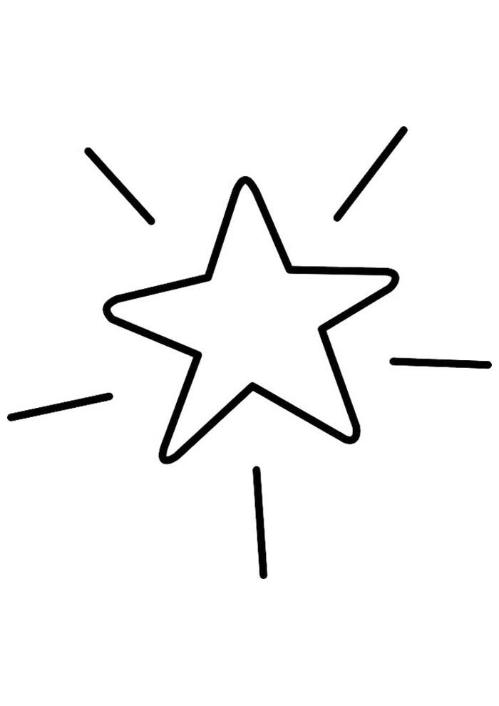 estrela para colorir 25