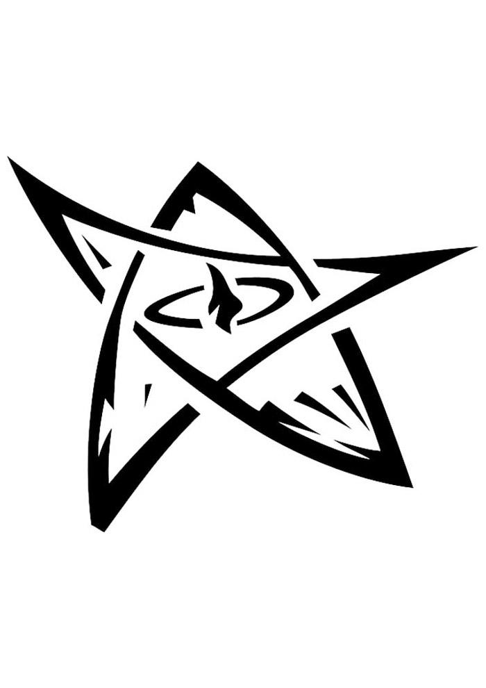 estrela para colorir 27