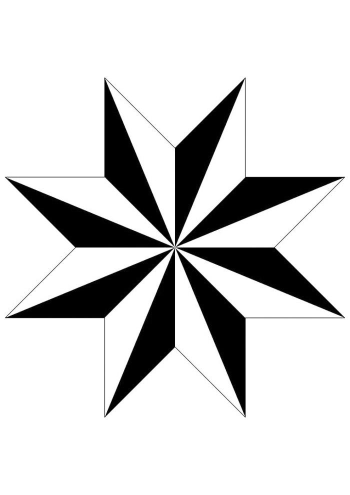estrela para colorir 28