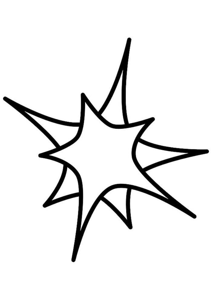 estrela para colorir 31