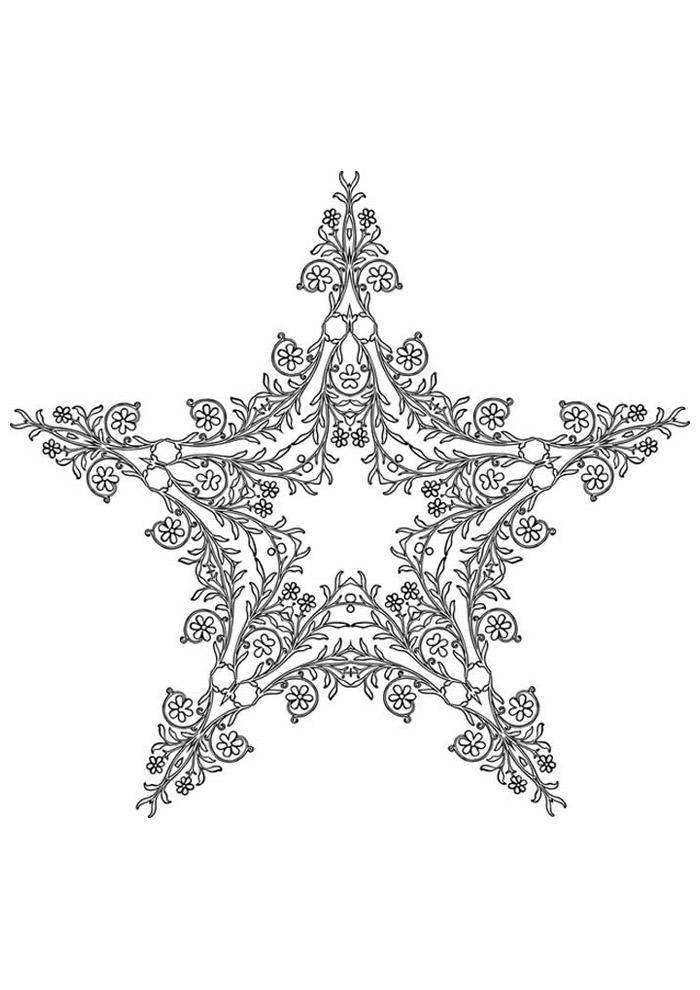 estrela para colorir 34