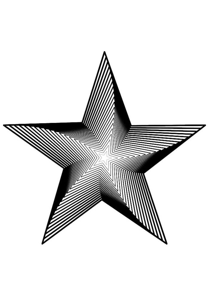 estrela para colorir 35