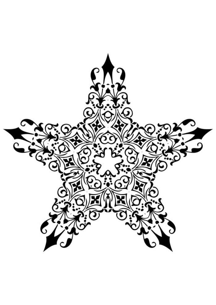 estrela para colorir 36