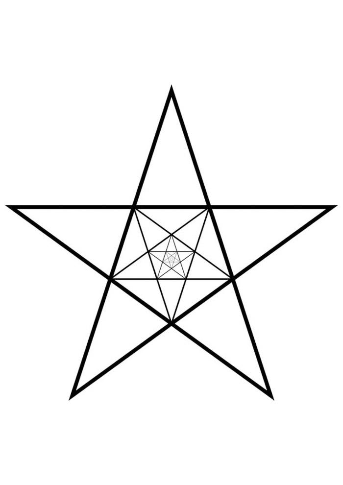 estrela para colorir 4