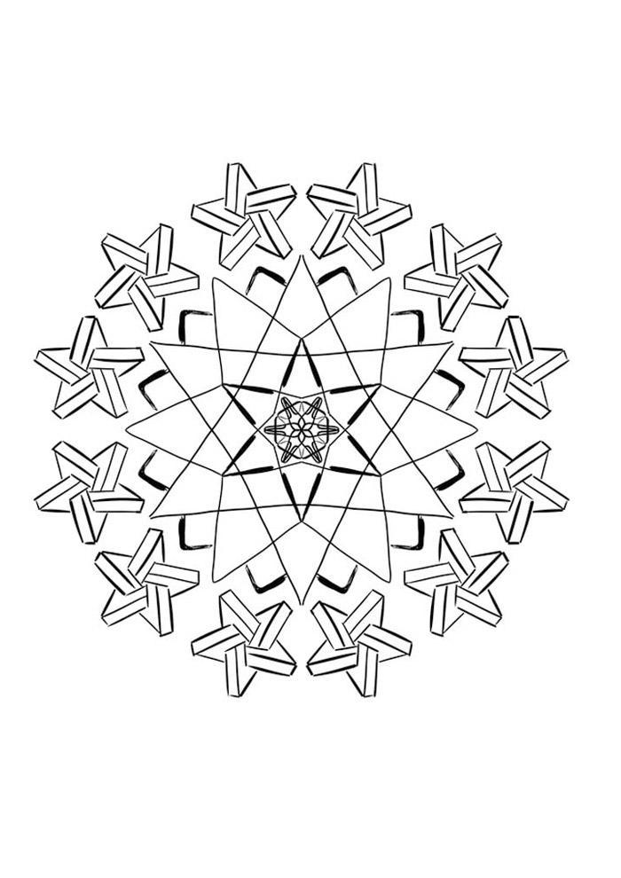 estrela para colorir 44