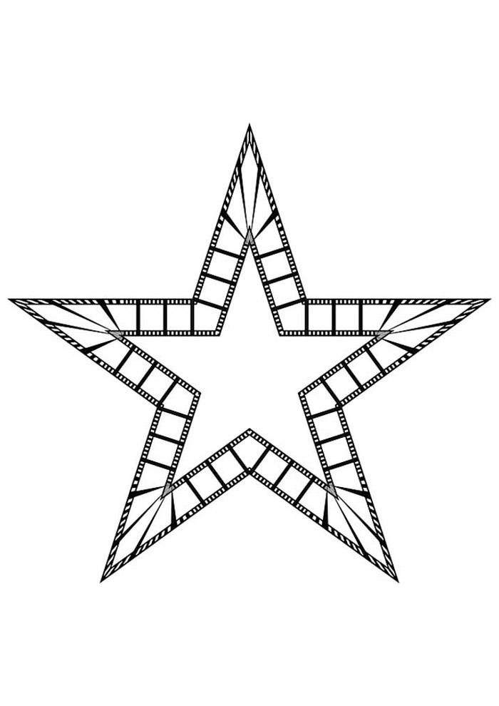 estrela para colorir 45