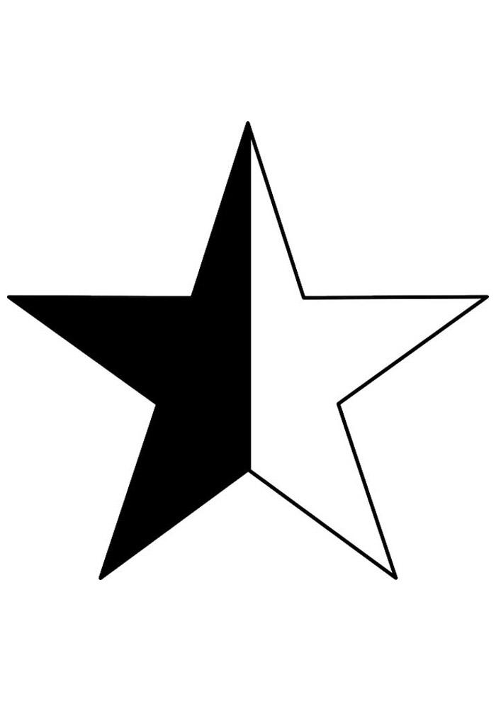 estrela para colorir 5