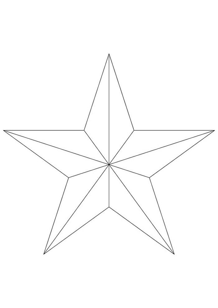 estrela para colorir 6