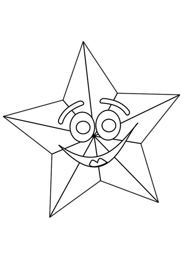 estrela para colorir 7
