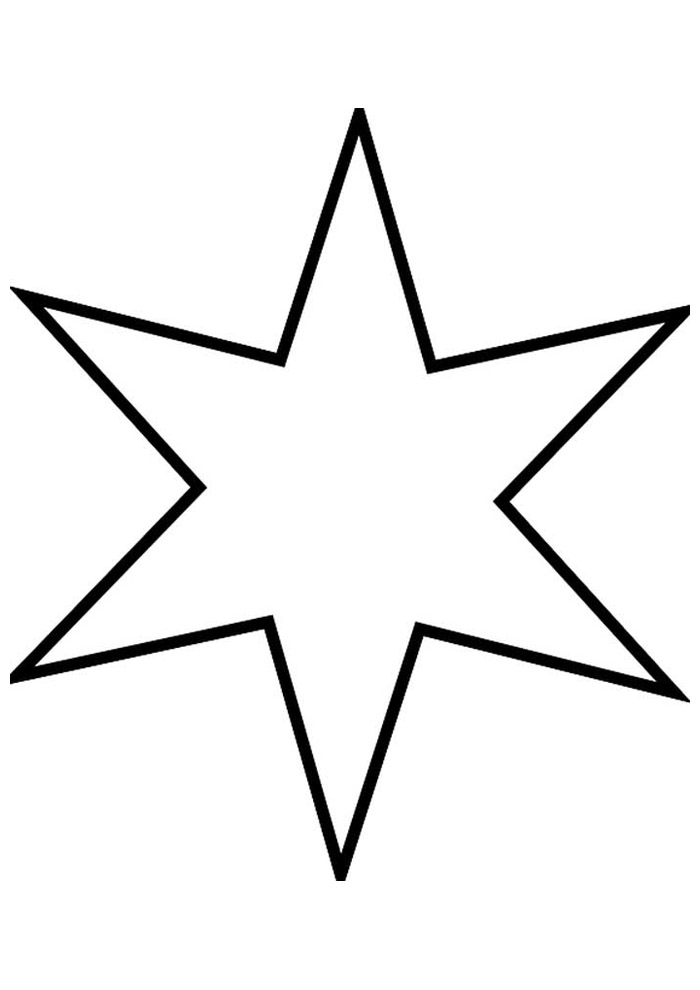 estrela para colorir 8