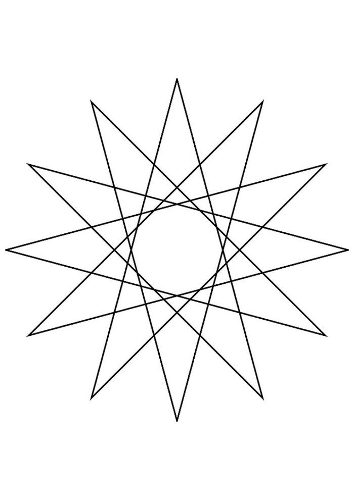estrela para colorir 9